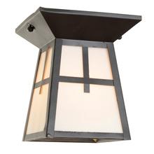 Square Mission-Style Ceiling Lantern c1915