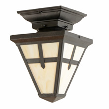 Mission Style Flush Mount Porch Lantern c1915