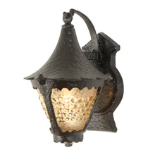 Boldly Hammered Romance Revival Lantern c1935