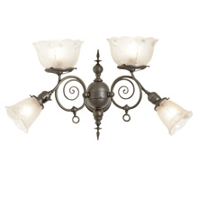Impressive Victorian 4-Light Gas/ Electric Wall Sconce c1905