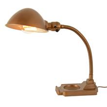 Gilt Adjustable Cast Iron Desk Lamp c1930
