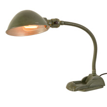 Adjustable Cast Iron Desk Lamp w/ Original Finish c1930