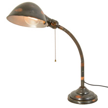 Faries No. 153 Flexible Desk Lamp W/ Original Japanned Copper C1915