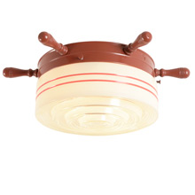 Cheerful Nautical Ceiling Fixture C1940s