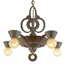 5-Light Woodstock Chandelier by Virden c1937