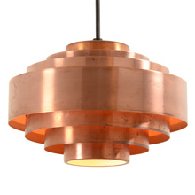 Petite Tiered Copper Pendant c1950
