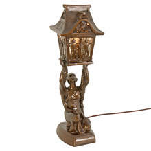 Revival Joan of Arc Radio Lamp w/ Pagoda c1930