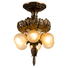 Caldwell Style Classical Revival Flush Fixture w/ Acathus Motif c1905