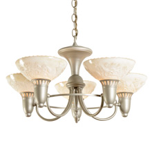 5-Light Cup-Shade Chandelier c1940