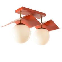 Mid-Century Double Globe Breezeway Light c1955