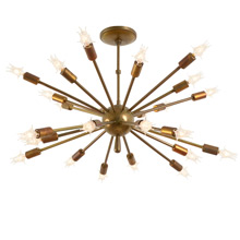 Supreme Sputnik Chandelier in Original Brass c1960