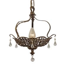 Romance Revival Basket Pendant w/ Drops c1928