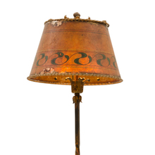 Charming Romance Revival Floor Lamp w/ Mica Shade c1920s