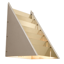 Modern Triangular Wall Sconce w/ Louvered Panels by Lightolier c1965