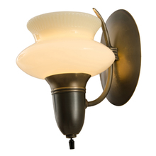Single Streamline Wall Sconce w/ Cup Shade c1935