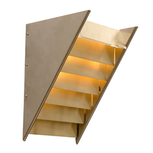 Modern Triangular Up Sconce w/ Louvered Panels by Lightolier c1965