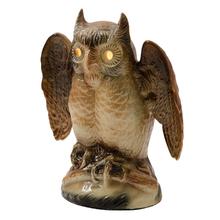Ceramic Kron Owl TV Lamp c1950