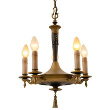 Striking Classical Revival 5-Light Chandelier c1928