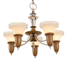Two-Tone Art Deco Chandelier w/ Cup Shade c1935