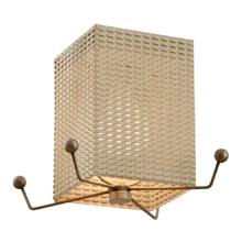 Funky Mid-Century Basket Flush-Mount c1960s