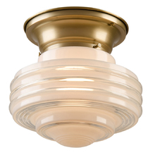 Flush Fixture w/ Tiered Dual Opacity Saturn Shade c1935