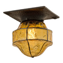 Romance Revival Entry Light w/ Crackle Glass Shade c1928