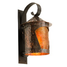 Faux Hammered Entry Light w/ Mica Insert c1930s