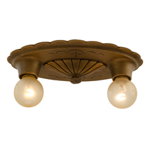 Sweet Colonial Revival 2-Light Flush Mount c1920s