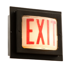 Industrial Exit Sign Wall Inset c1940s