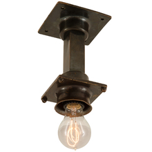 Bronze Industrial Subway Light c1915