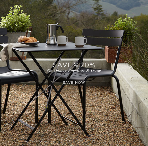 Save up to 20% on Outdoor Furniture & Decor