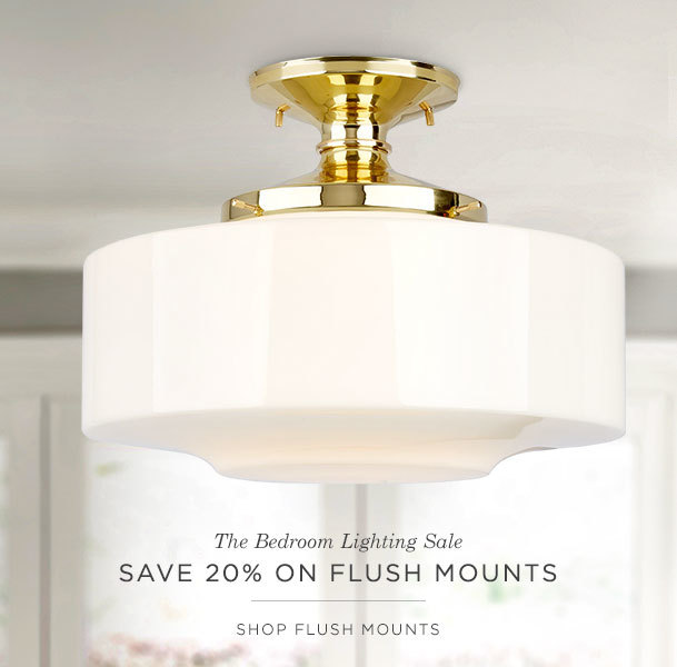 Save 20% on Flush Mounts