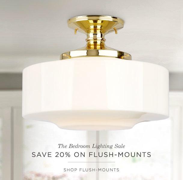 Save 20% on Flush Mounts