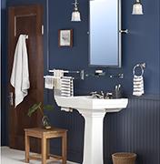 Bold Blue Bath