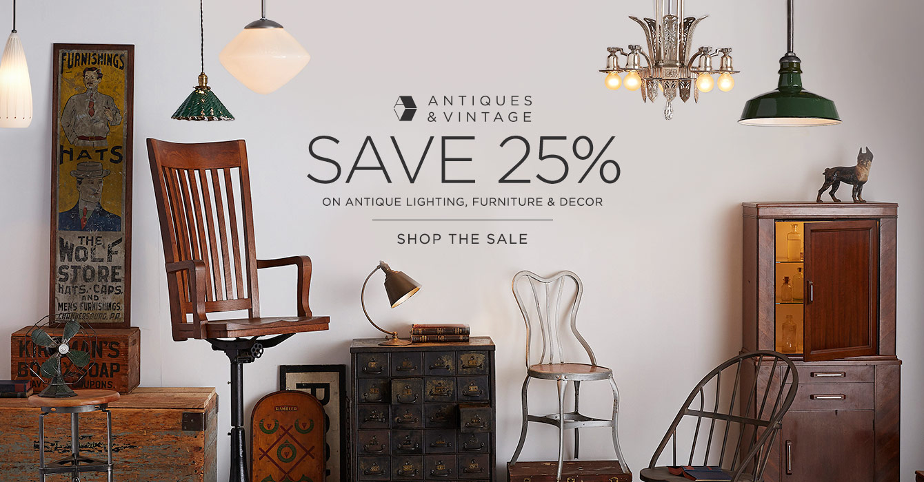 Save 25% on Antiques & Vintage