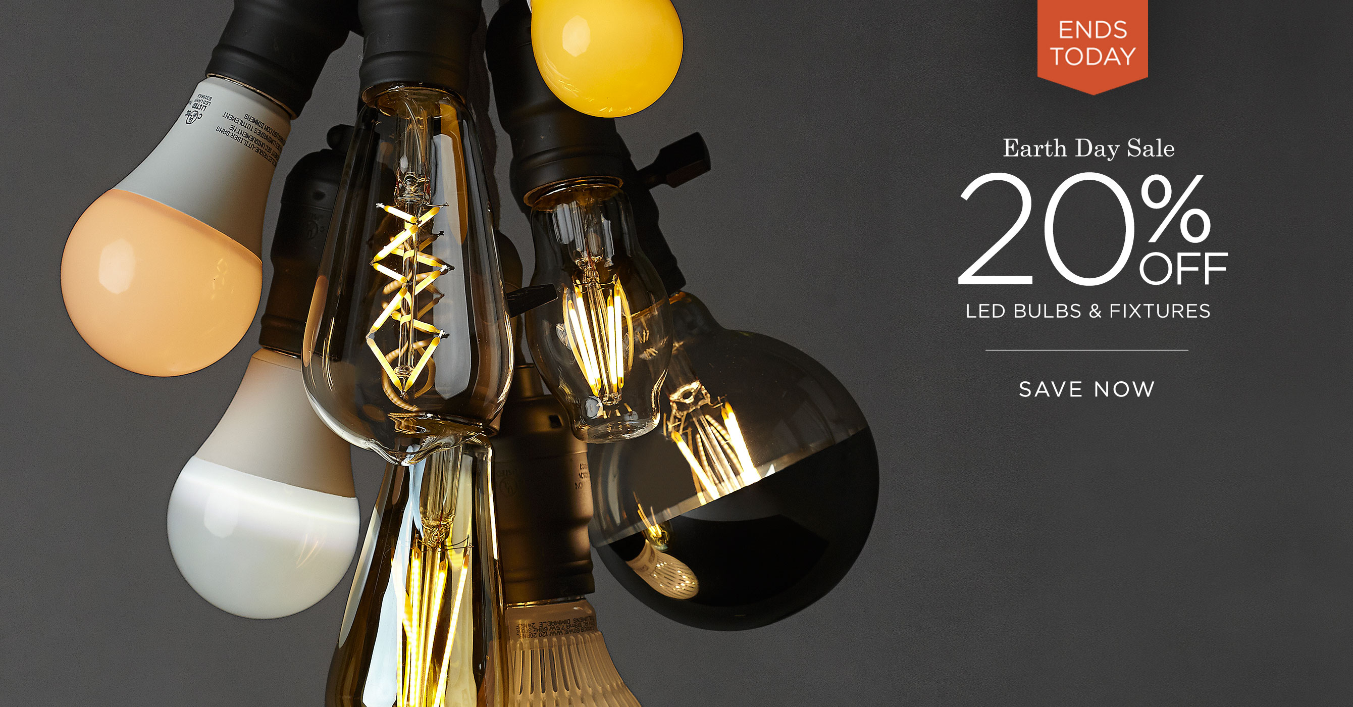 Earth Day Sale: Save 20% off LED Light Bulbs & Fixtures