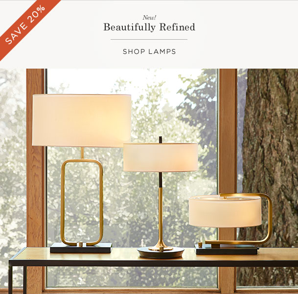 Save 20% on Lamps