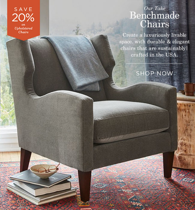 Save 20% on Benchmade Chairs