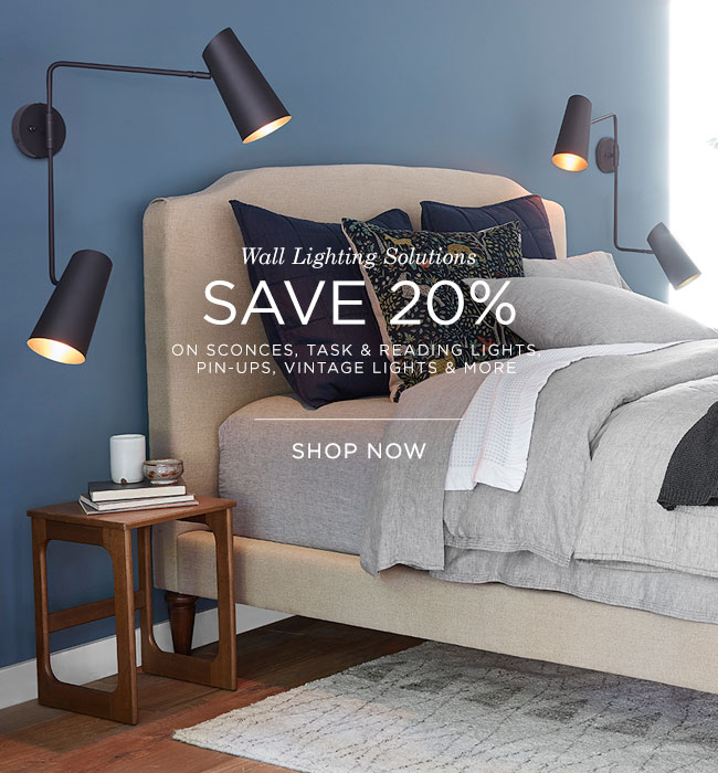 Save 20% on Wall Lighting Solutions