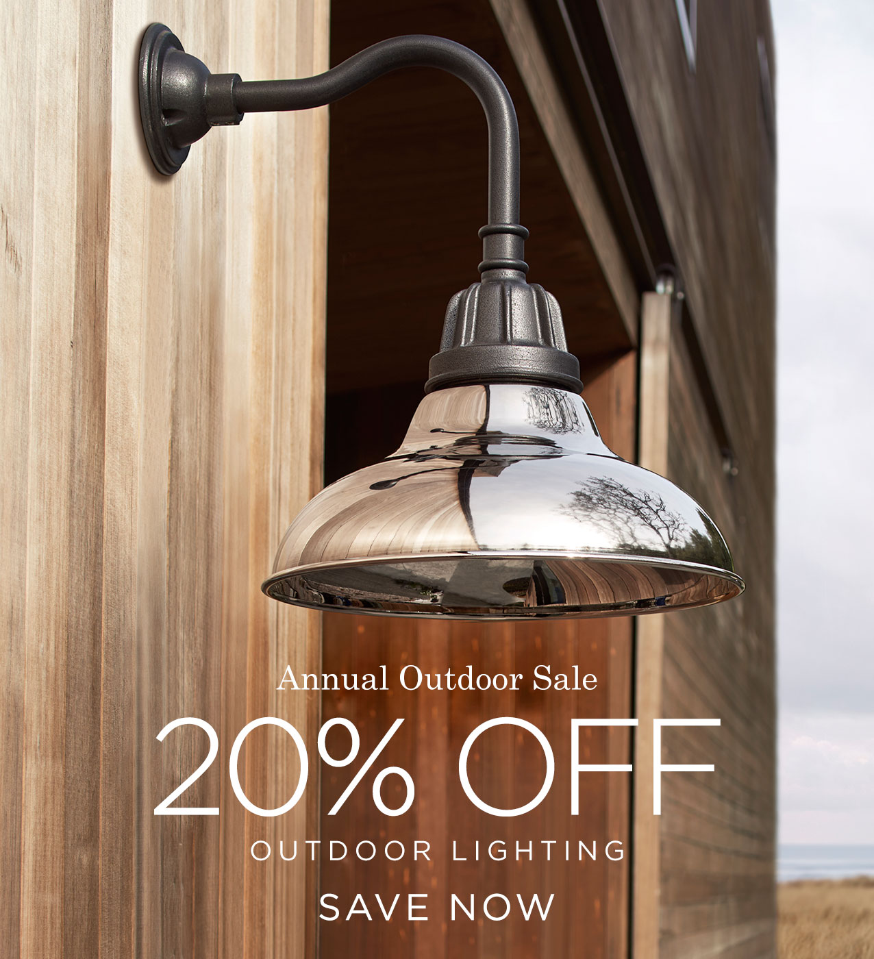 Save 20% on Outdoor Lighting