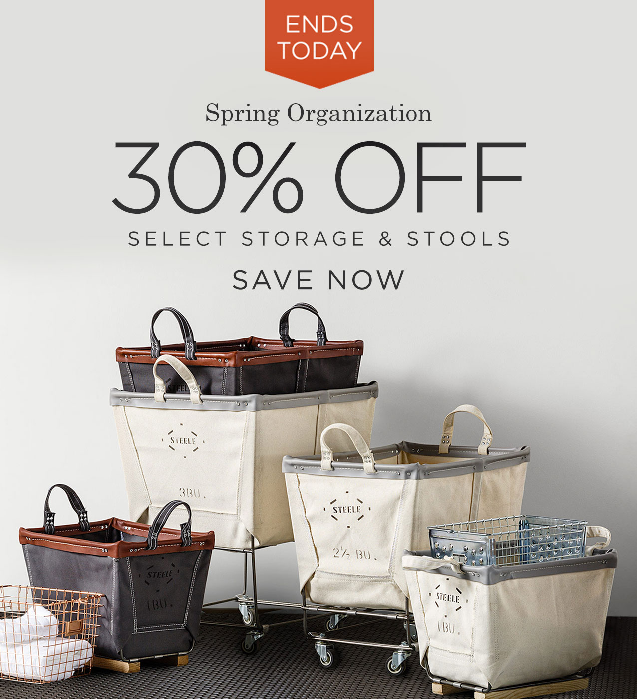 Spring Organization: Save 30% on Select Storage & Stools