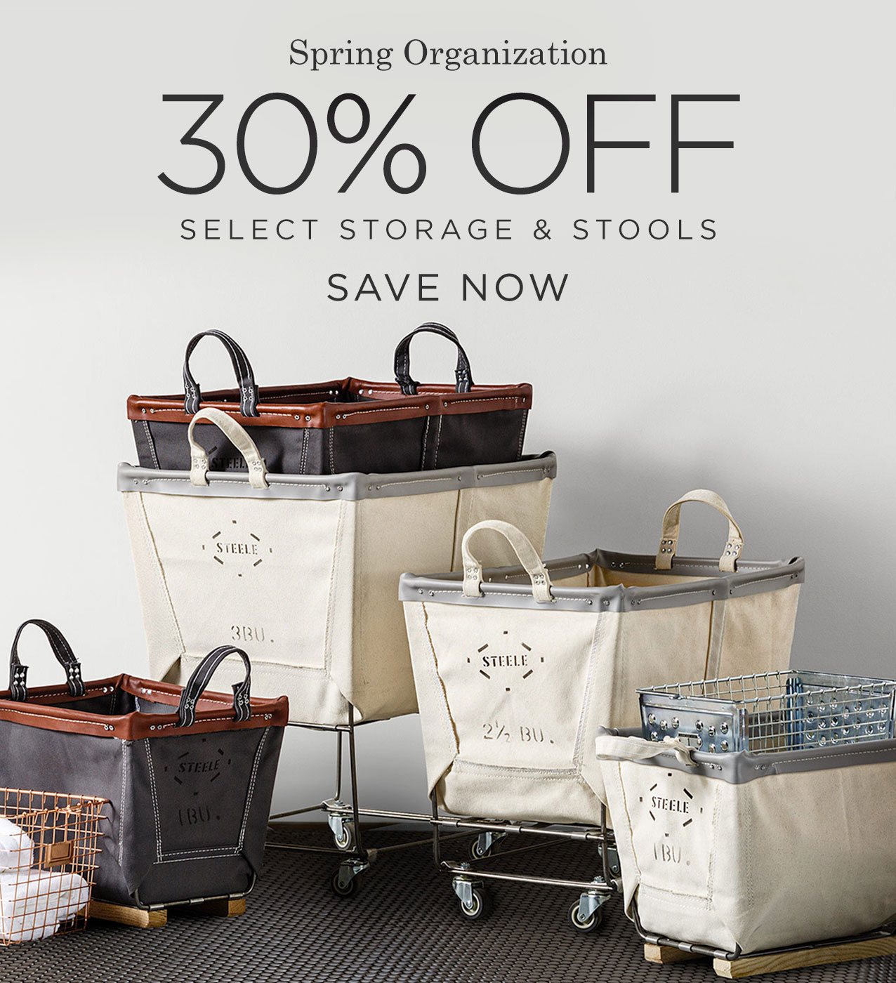 Save 30% on Select Storage & Stools