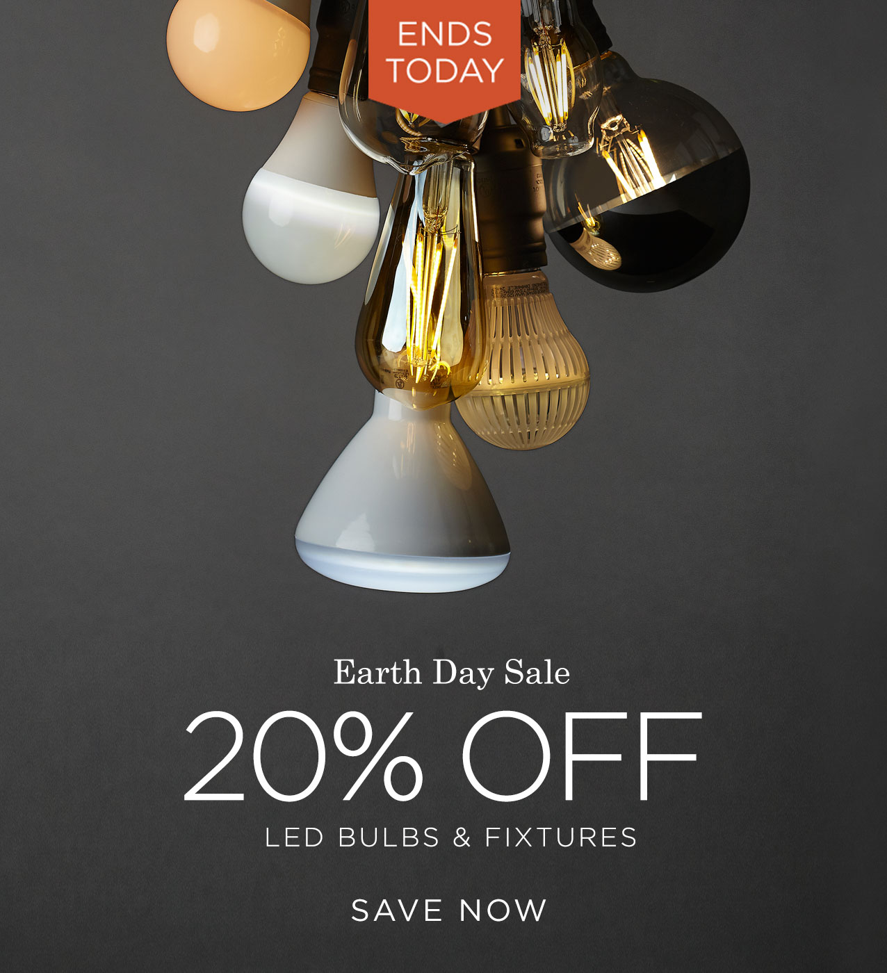 Earth Day Sale: Save 20% off LED Light Bulbs & Fixtures