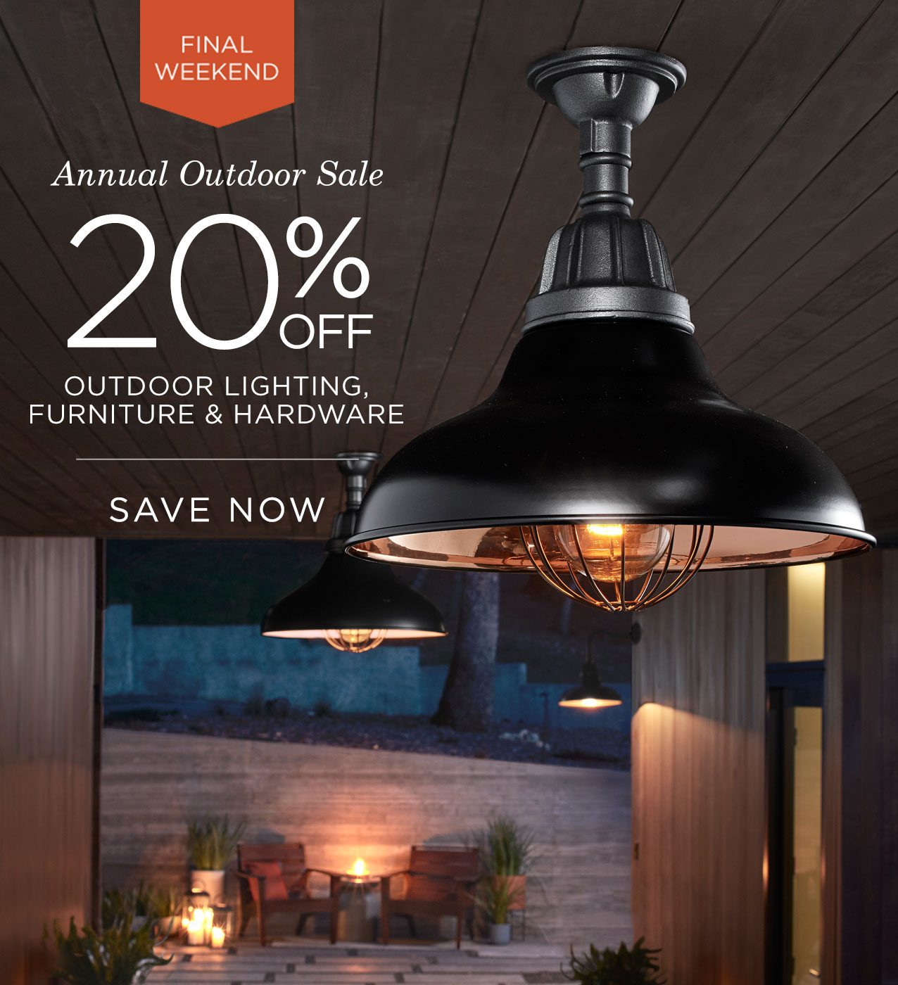 Save 20% on Outdoor