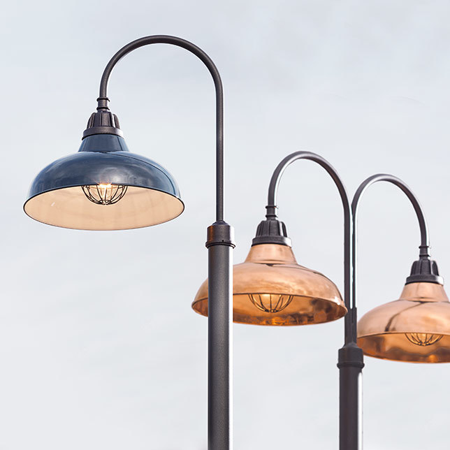 Bell Outdoor Post Lights: Rejuvenation