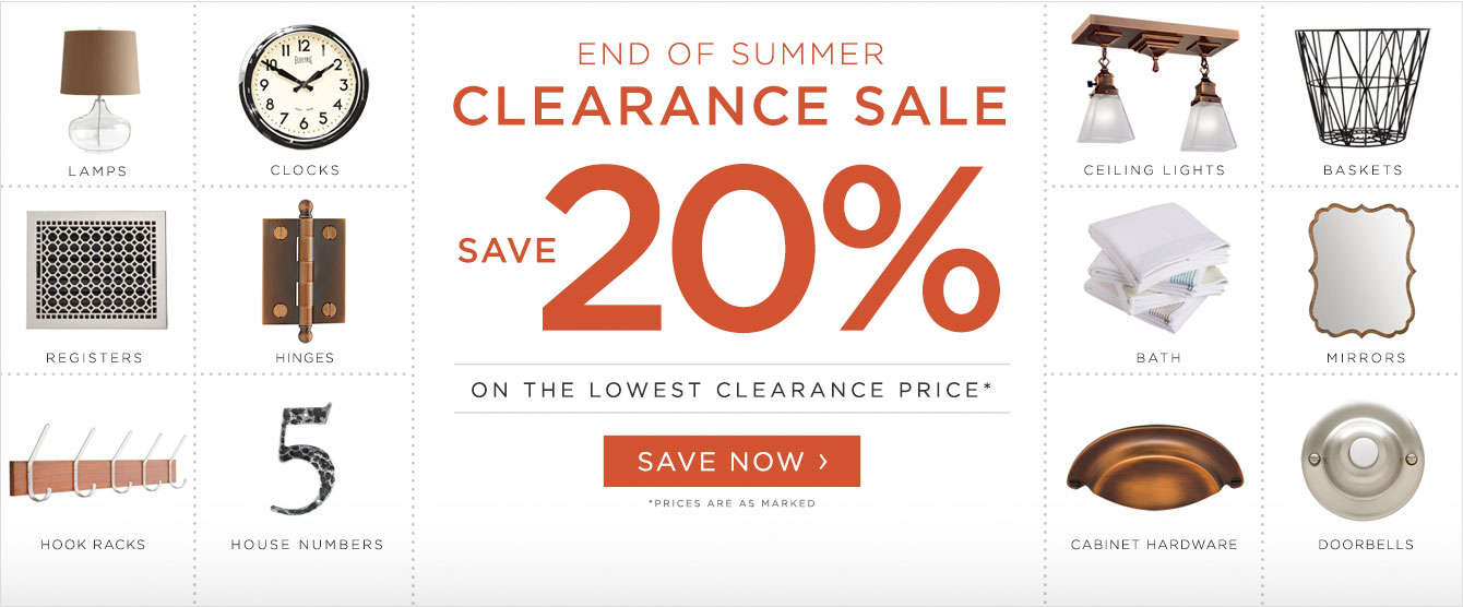 End of Summer Clearance Sale - Save 20%