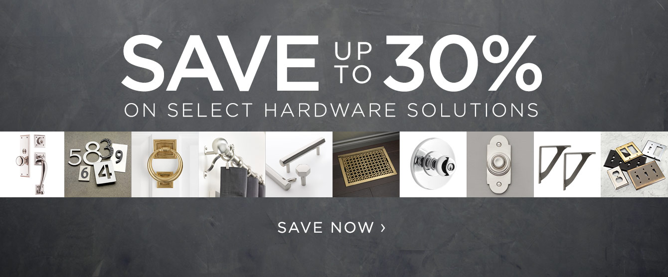 Save up to 30% on Select Hardware