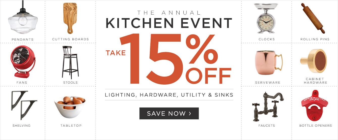 Annual Kitchen Event - Save 15%