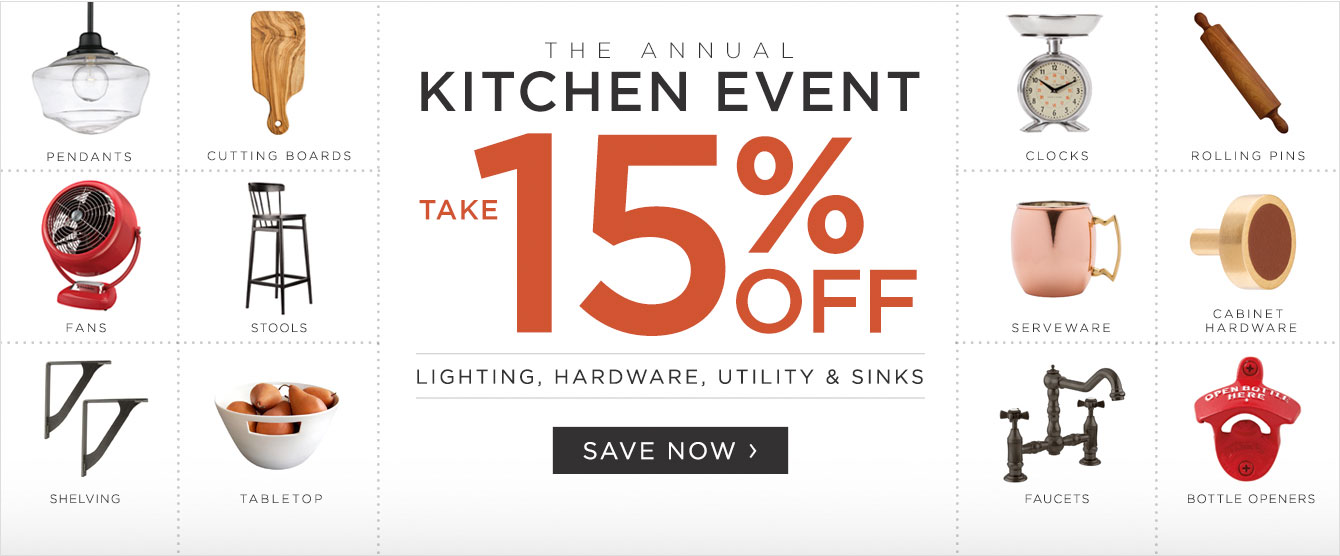 Annual Kitchen Event - Save 15%