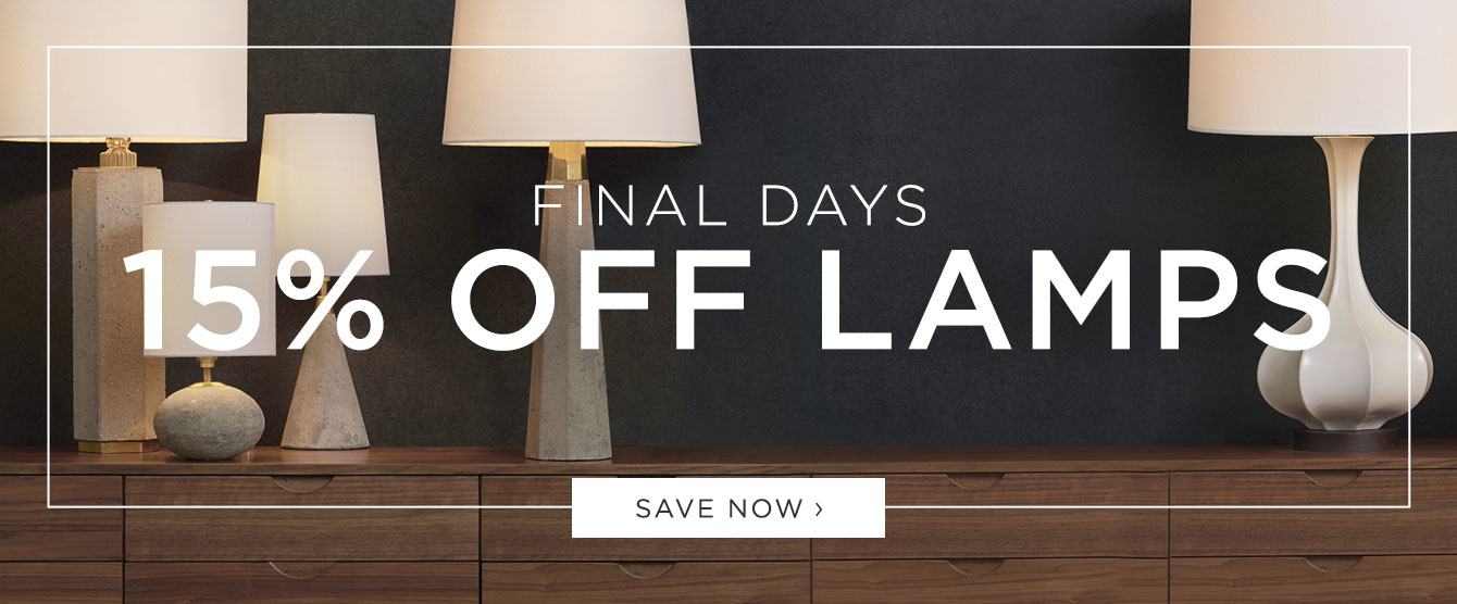 Final Days: 15% Off Lamps